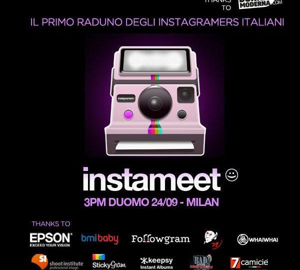 Il primo Instameet Italia? A Milano il 24 settembre…