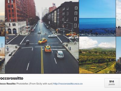 Ripartire da zero, o quasi, su Instagram.