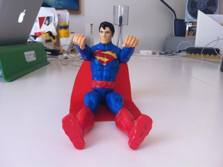 Con Superman nello spazio.
